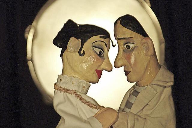 Offene Tür beim Basler Marionetten Theater