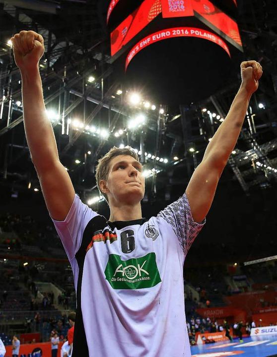 Nun doch EM-Teilnehmer: Abwehrspieler Finn Lemke  | Foto: dpa