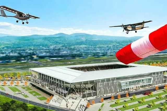 Gutachter sieht im geplanten SC-Stadion kein Hindernis für den Flugbetrieb