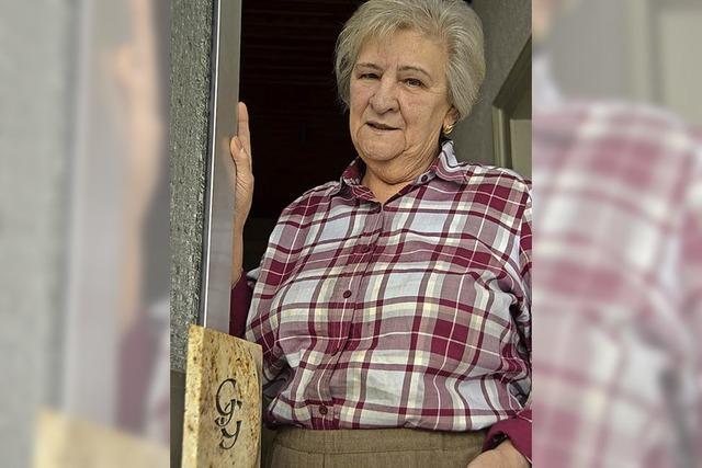75-jährige Steinmetzin Eva Gehring hat den Diamantenen Meisterbrief erhalten