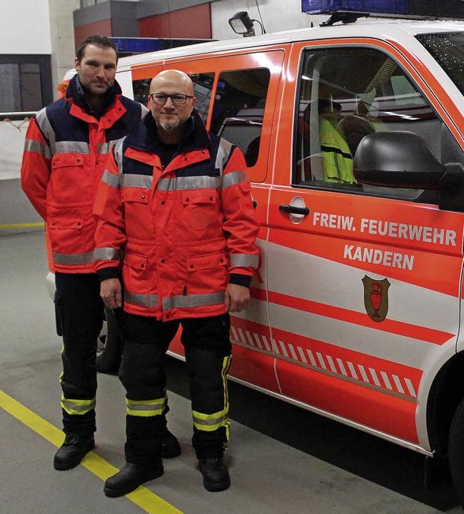 Arben Djokaj (rechts) und Christophe Barreca     Foto: Cremer