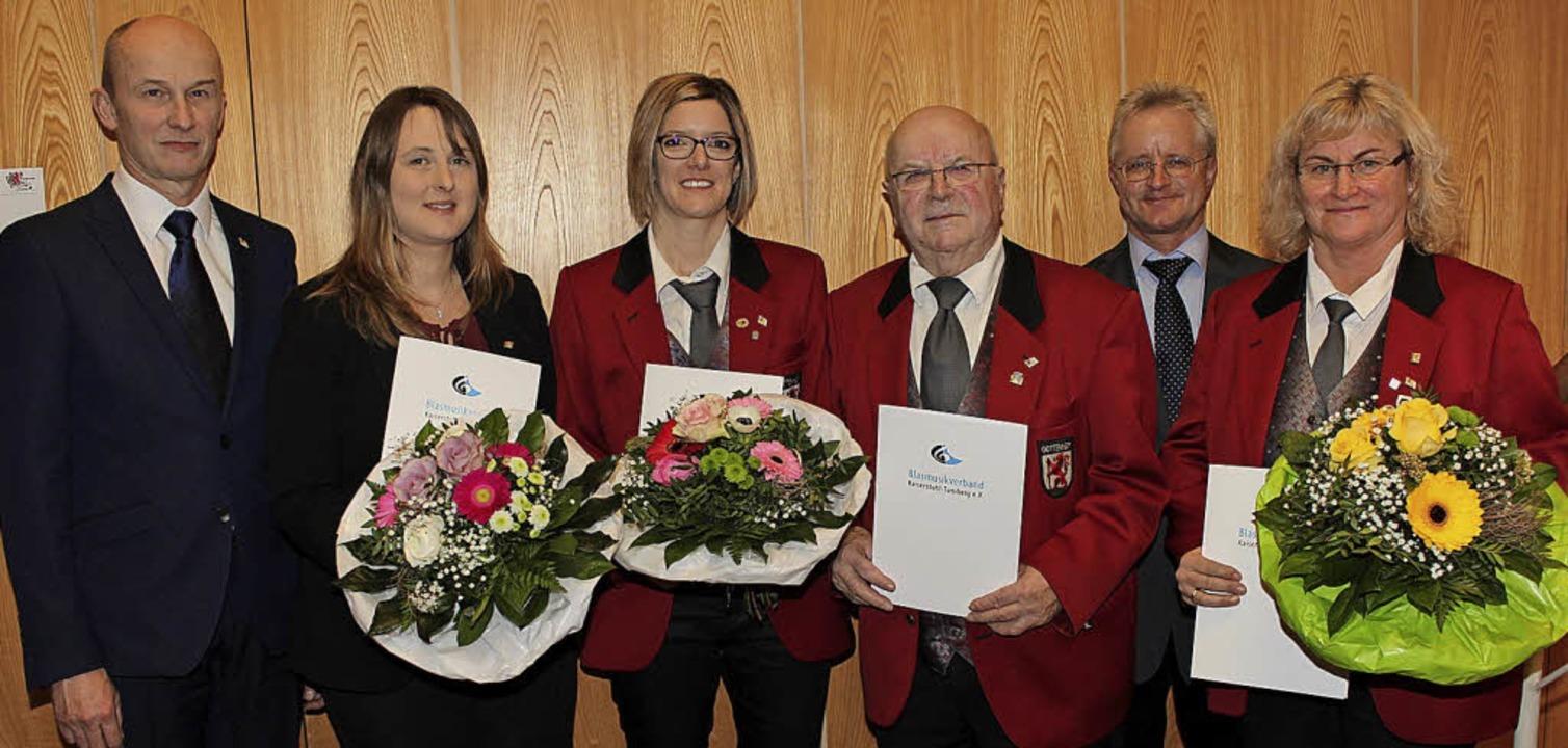 Vorsitzender Martin Liebermann (links)...ld Hess  und Petra Bösch (von links).   | Foto: Mario Schöneberg