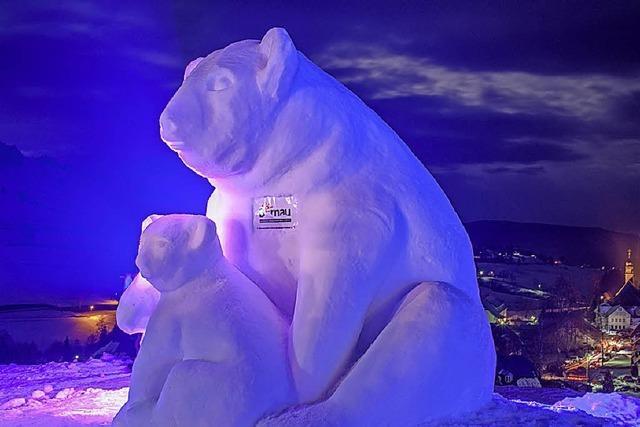 Schneeskulpturen-Festival Bernau