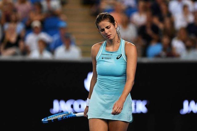 Erste Niederlage für Tennis-Star Julia Görges nach 15 Erfolgen in Serie