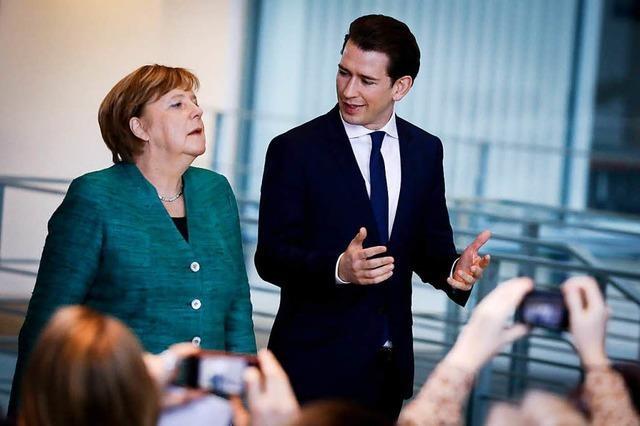 Suche nach Normalität beim Treffen von Merkel und Kurz