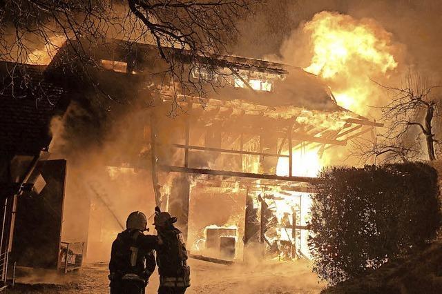 Großbrand in Aichen