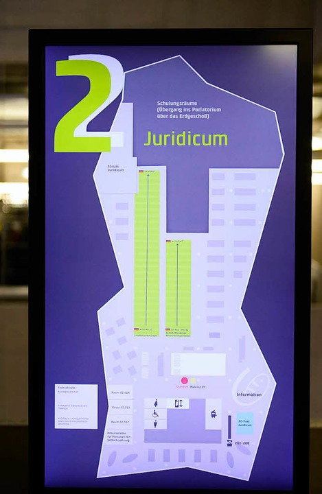 Im zweiten Stock der UB ist das Juridicum  | Foto: Ingo Schneider