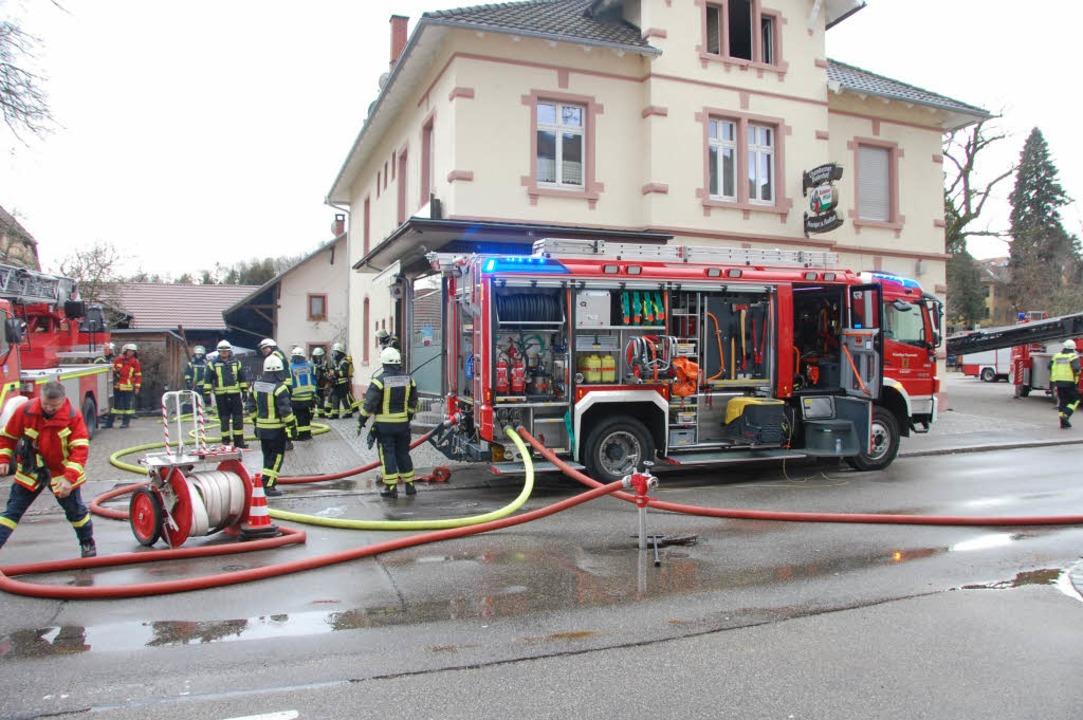 Im Kanderner Chabah ist ein Brand ausgebrochen.  | Foto: Herbert Frey