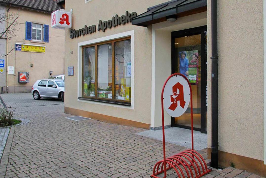 Schließt zum Monatsende: Die Storchen-Apotheke in Gottenheim.  | Foto: Mario Schöneberg