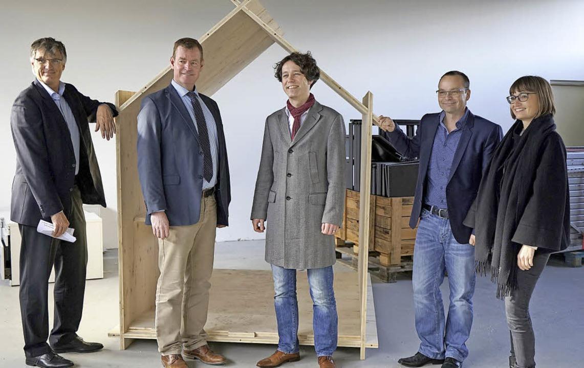 Gründer unter sich:  Thorsten Radensle...erin Stefanie Armbruster (von links).   | Foto: Julius Steckmeister