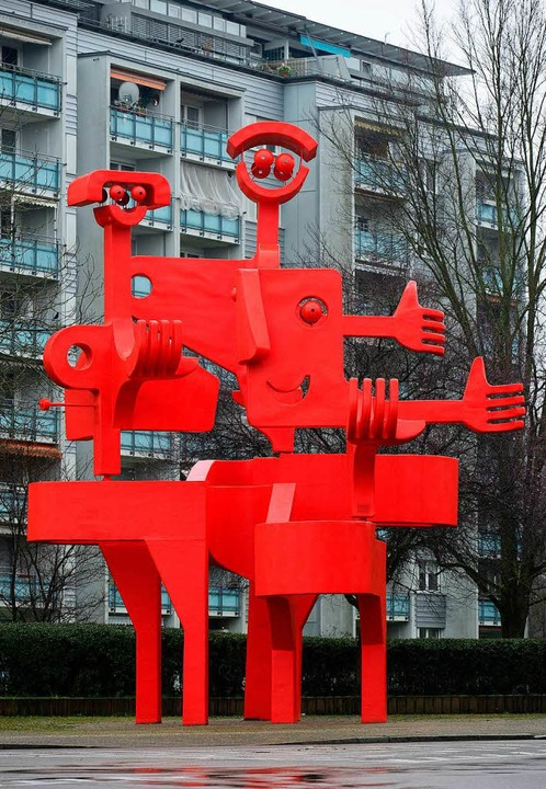Der Rote Otto, das freundliche Wahrzeichen Landwassers  | Foto: Ingo Schneider