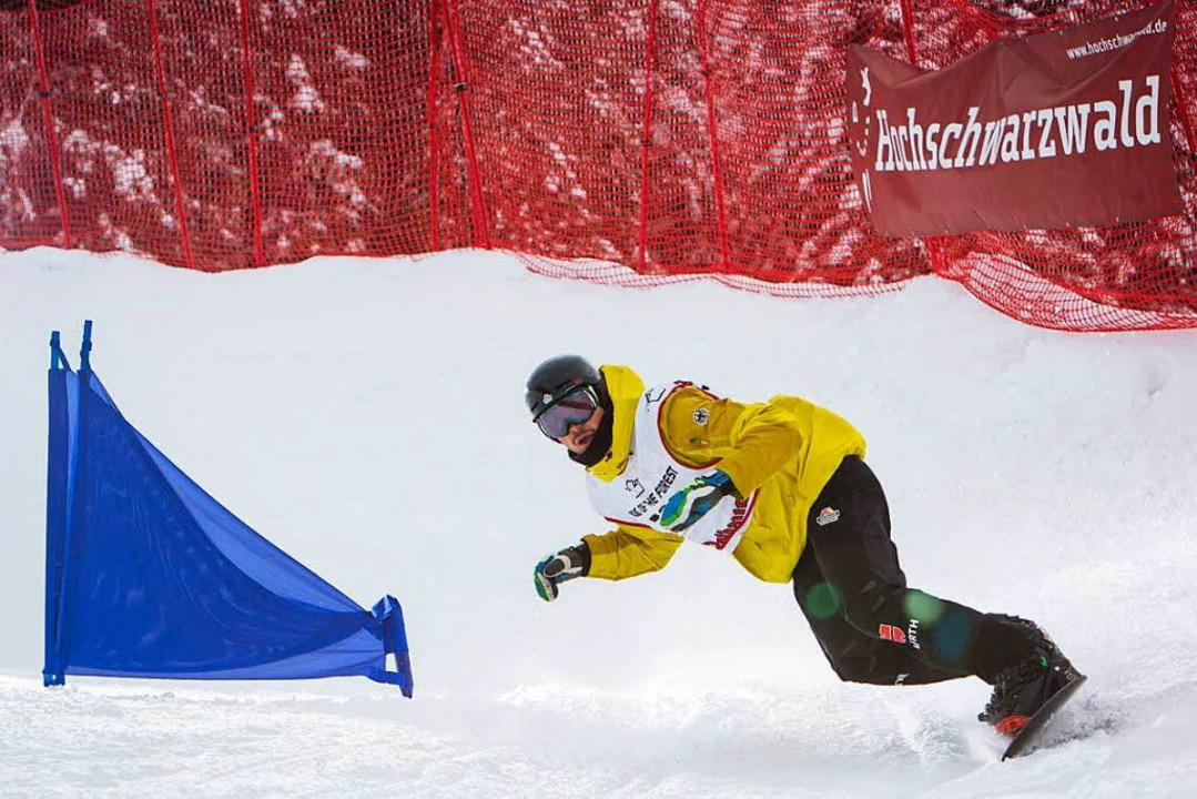 Paul Berg, Snowboardcrosser vom SC Konstanz und Olympia-Kandidat für Pyeongchang    Foto: Baschi Bender