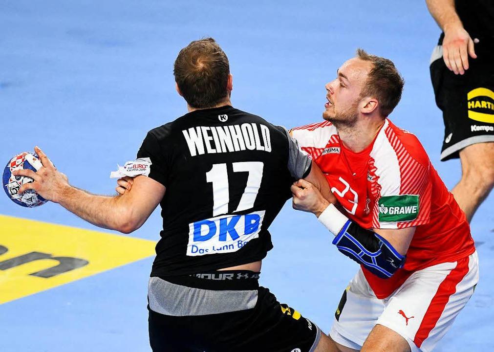 Deutschland verlor gegen Dänemark 25:26.    Foto: AFP