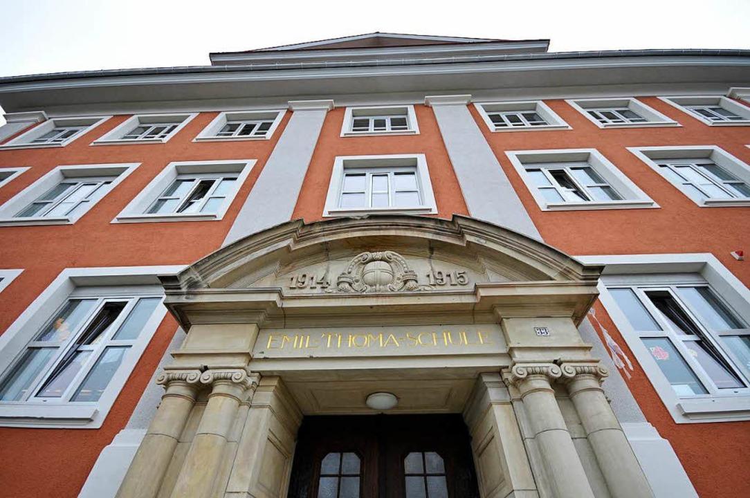 Unbekannte Täter beschädigten mehrere ... Turnhallendach der Emil-Thoma-Schule.  | Foto: Ingo Schneider