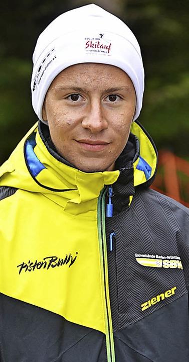Nachwuchsbiathlet Diogo Martins arbeit...ebig an seiner Karriere als Skijäger.   | Foto: Junkel