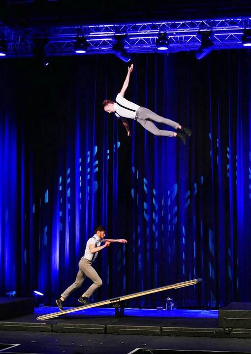 Das Akrobaten-Duo Lukas & Aaron  | Foto: Wolfgang Grabherr