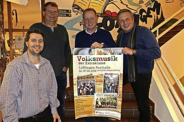 Drei bekannte Volksmusikgruppen in der Festhalle