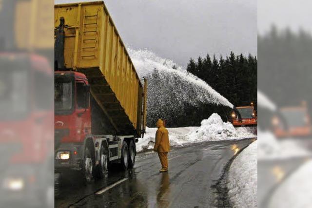 Die Schneemenge reicht aus