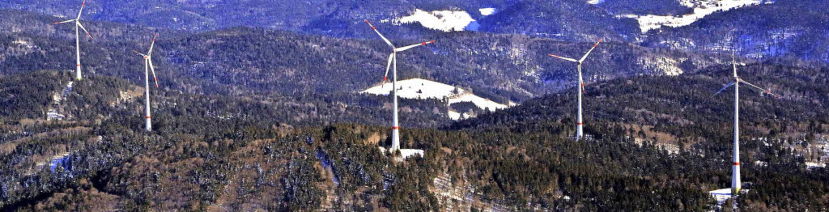 Der Windpark Rohrenkopf hat sein erste...00 Megawattstunden wurden produziert.   | Foto: Erich Meyer
