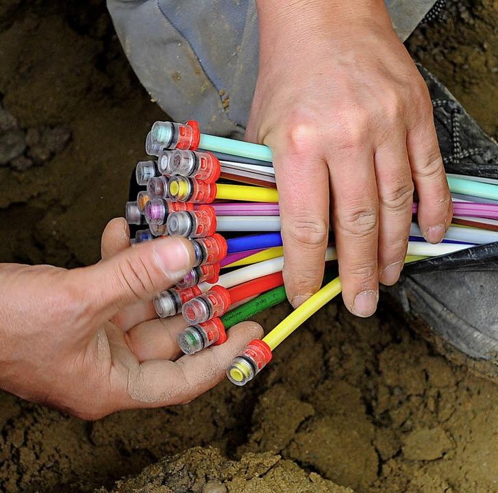Schnelles Internet ist in Murg ein großes Thema.  | Foto: Peter Kneffel/DPA
