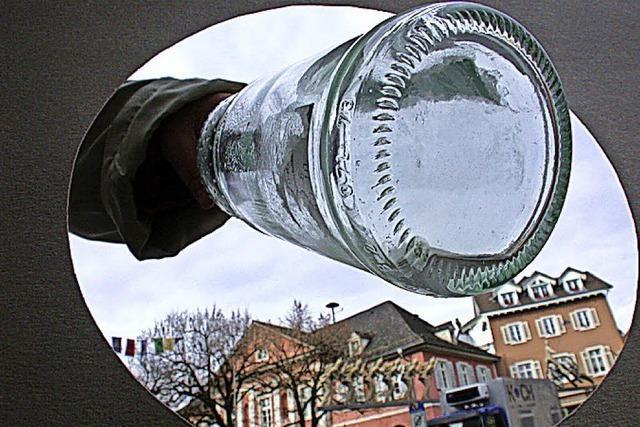 Glascontainer vor dem Comeback
