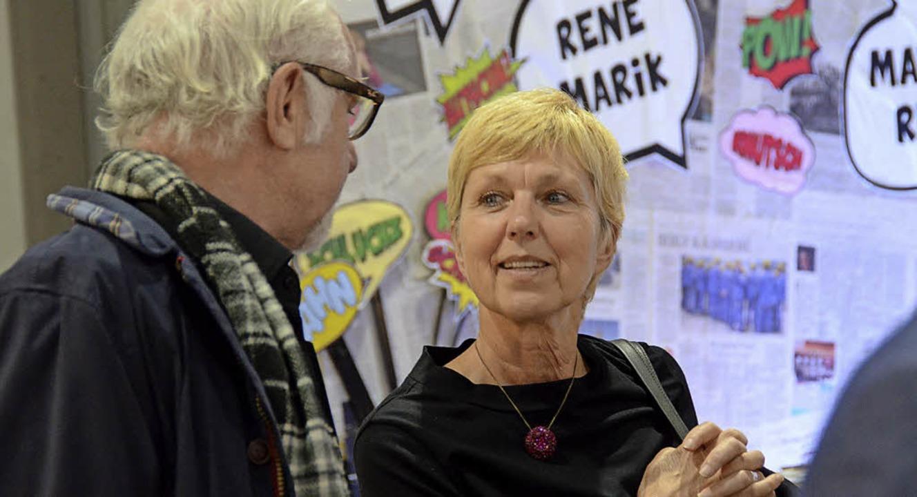 Heidrun Haendle führt auf der Kulturbörse viele Gespräche.   | Foto: Konstantin Görlich