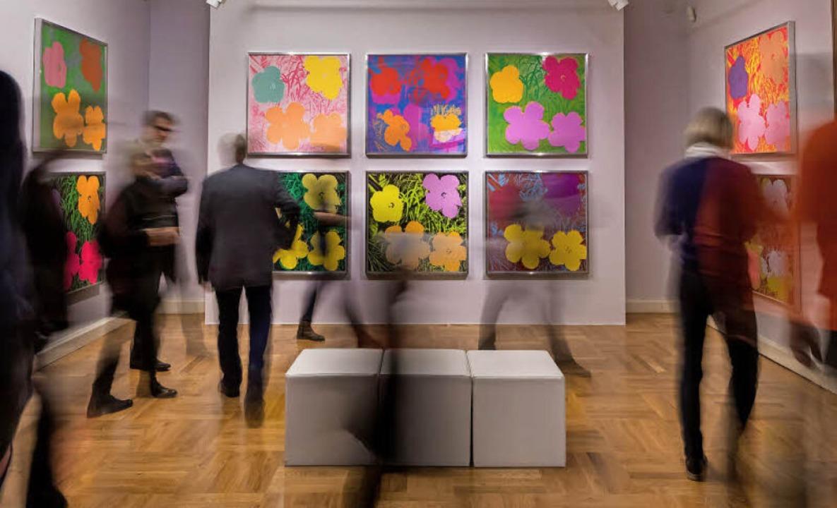 Auf der Suche nach dem einzigartigen E...cher in einer Andy-Warhol-Ausstellung     Foto: dpa