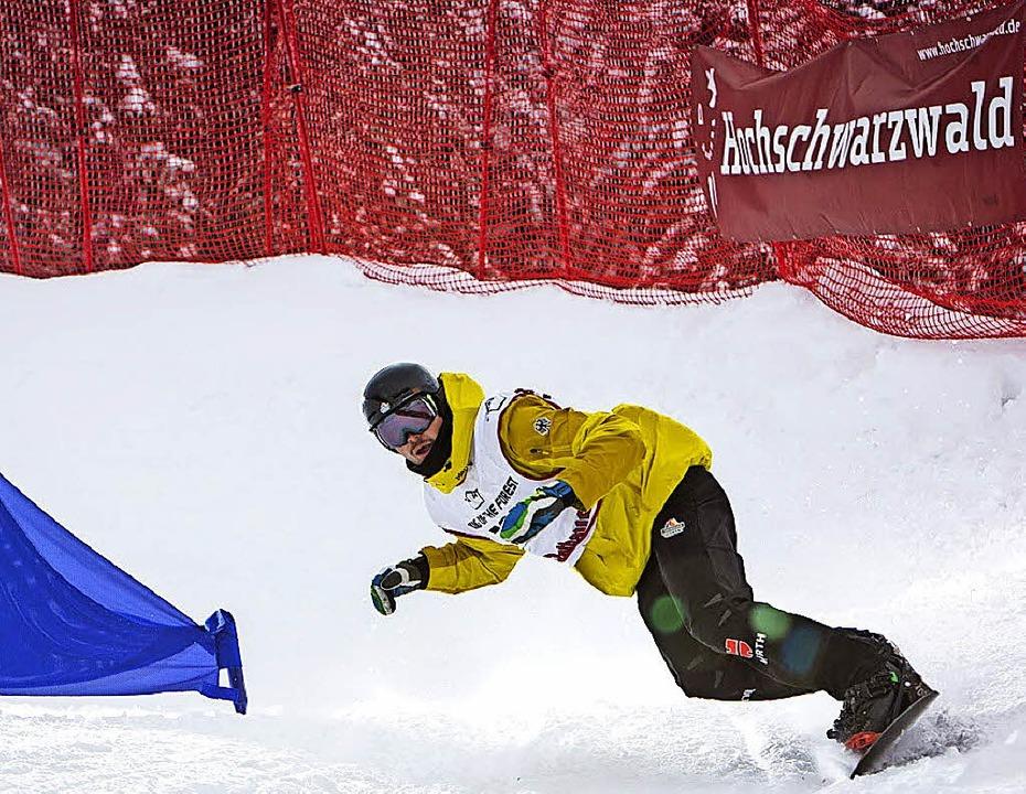 Der Snowboarder Paul Berg gewann in di... Böhler hat  Chancen mit der Staffel.   | Foto: PRIVAT/DPA