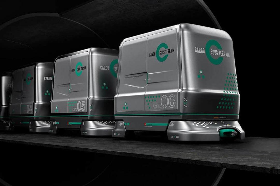 Mit einer Geschwindigkeit von 30 Stund...ren durch die Schweiz transportieren.   | Foto: Cargo sous terrain