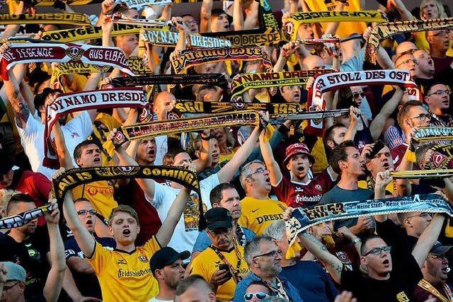Fans von Dynamo Dresden kritisieren die Freiburger Polizei