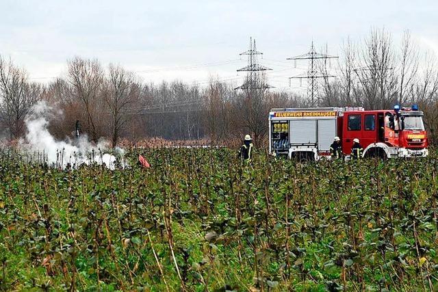 Zwei Deutsche und zwei Schweizer starben bei Flugunglück bei Philippsburg