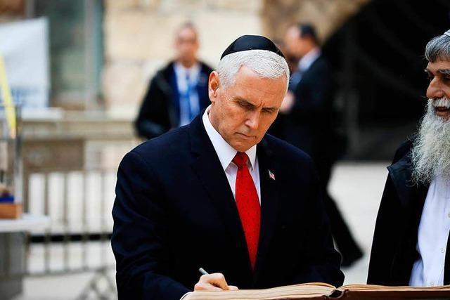 US-Vizepräsident Pence verteidigt neue Botschaft in Jerusalem