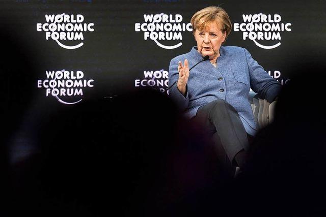 Merkel hat in Davos eine Chance verpasst