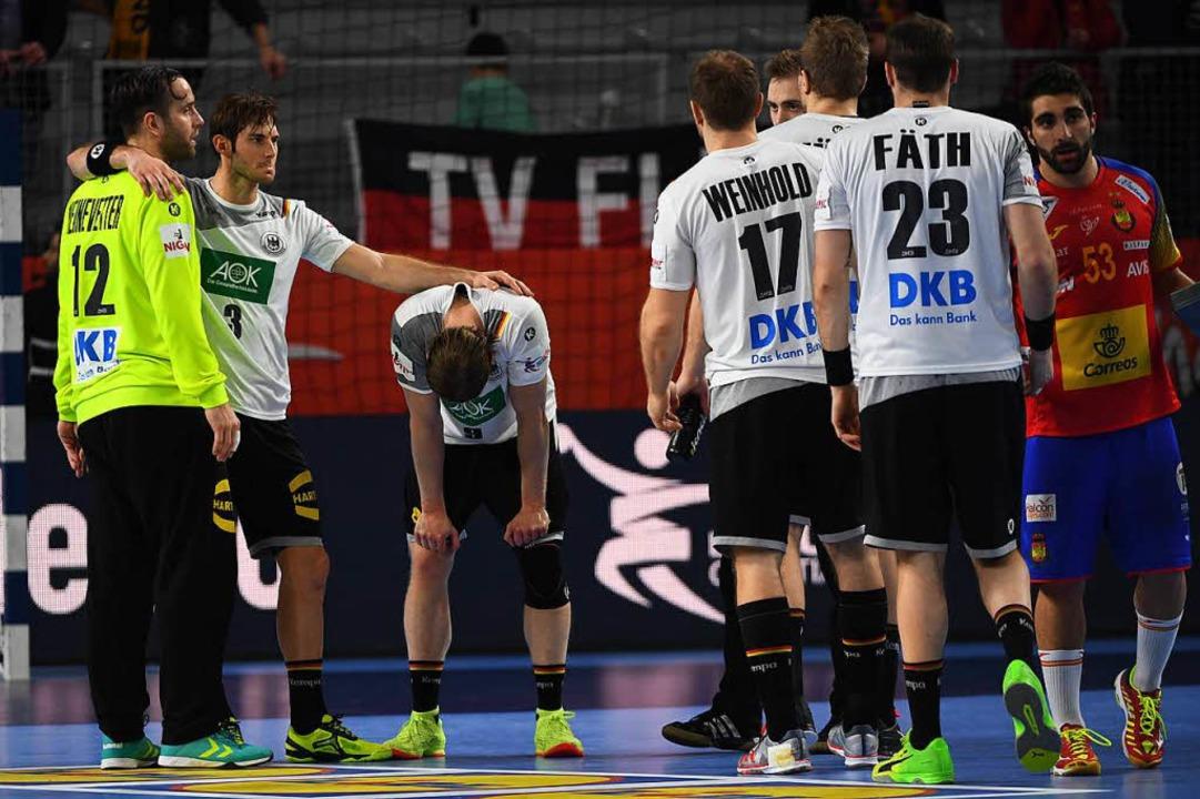 Die deutsche Mannschaft nach dem Aus.  | Foto: dpa