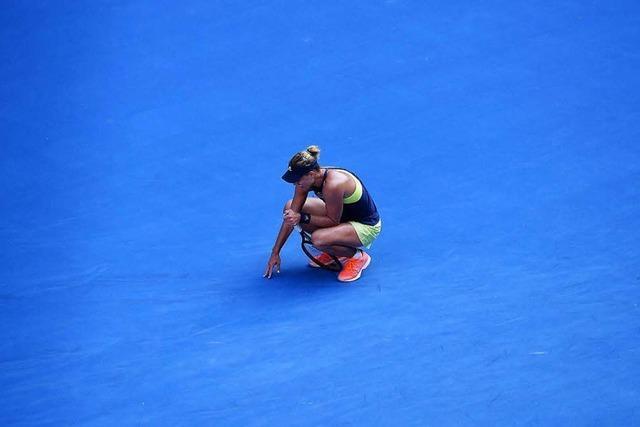 Niederlage gegen Halep: Halbfinal-Aus für Kerber bei Australian Open
