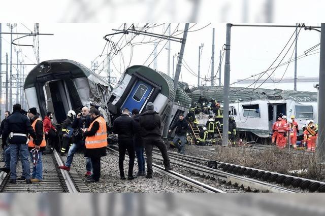 Pendlerzug bei Mailand entgleist – drei Tote