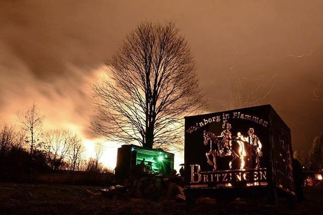 Winterliche Illumination in Britzingen