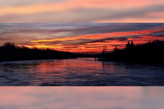 Rhein in Rot