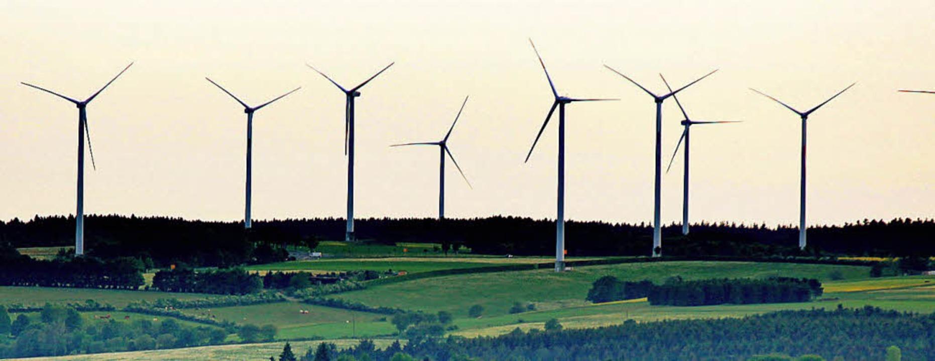 Ganz schön viele Windräder  | Foto: dpa