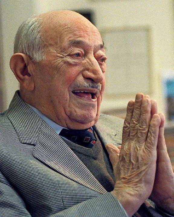Simon Wiesenthal in seinem Büro in Wien.   | Foto: Archivfoto: dpa