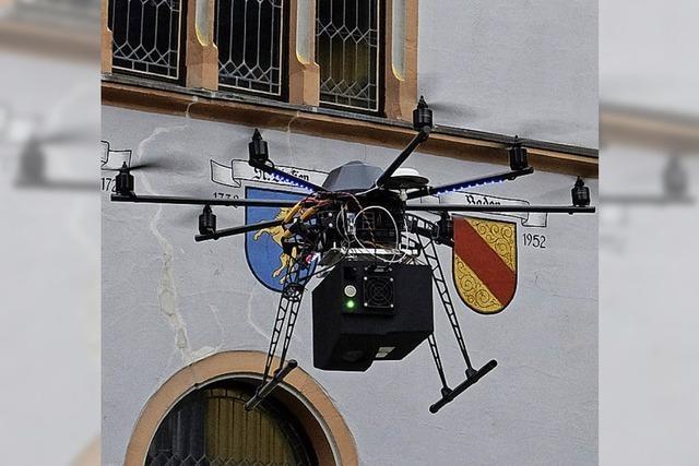 Drohne vermisst Rathaus Staufen