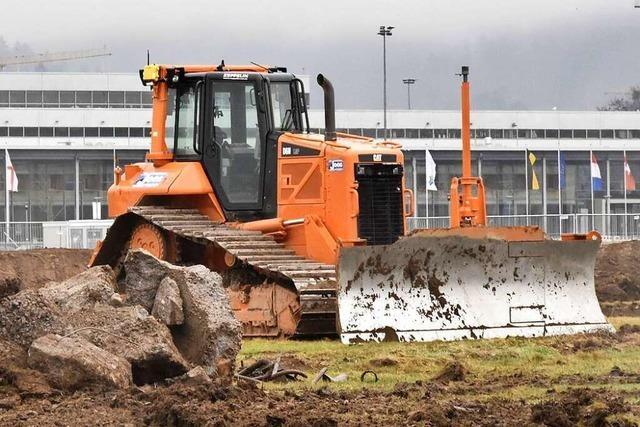 Vorbereitende Arbeiten für das SC-Stadion schreiten voran