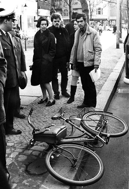 Das Attentat auf Dutschke am 11. April...lisierte die 68er. Hier sein  Fahrrad.  | Foto: Chris Hoffmann
