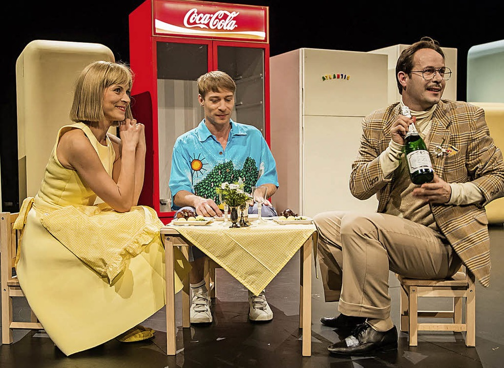 Der Goldne TopfUraufführung Theater Fr... Mrachacz, Martin Hohner, Graham Smith  | Foto:  Laura Nickel