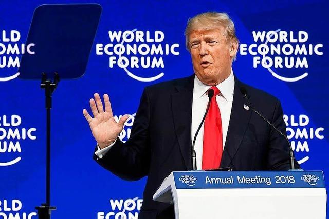 Trump in Davos: Ein Forum der Widersprüche