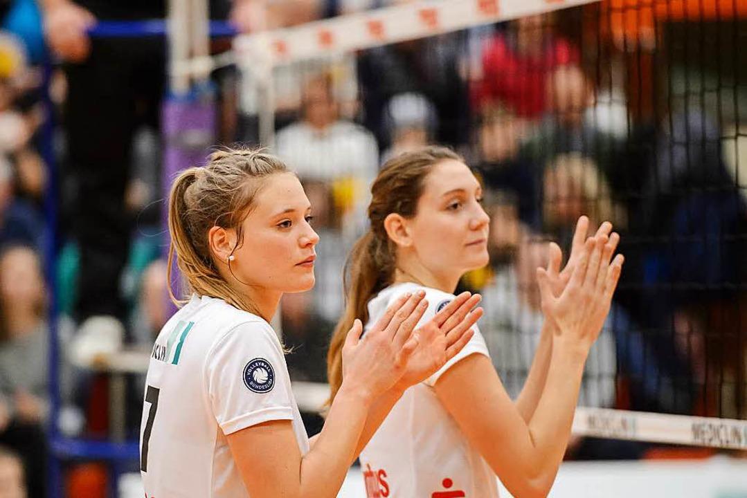 Konnten sich in Sonthofen selbst bekla... Leweling (links) und Taylor Brisebois  | Foto: Sebastian Köhli