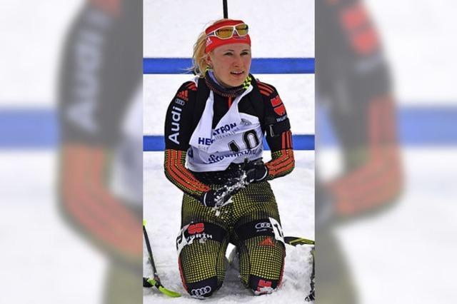 Zufrieden mit der ersten Biathlon-EM