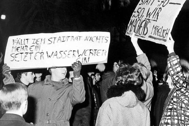 Die Demonstrationen gegen teurere Fahrkarten 1968 veränderten Freiburg