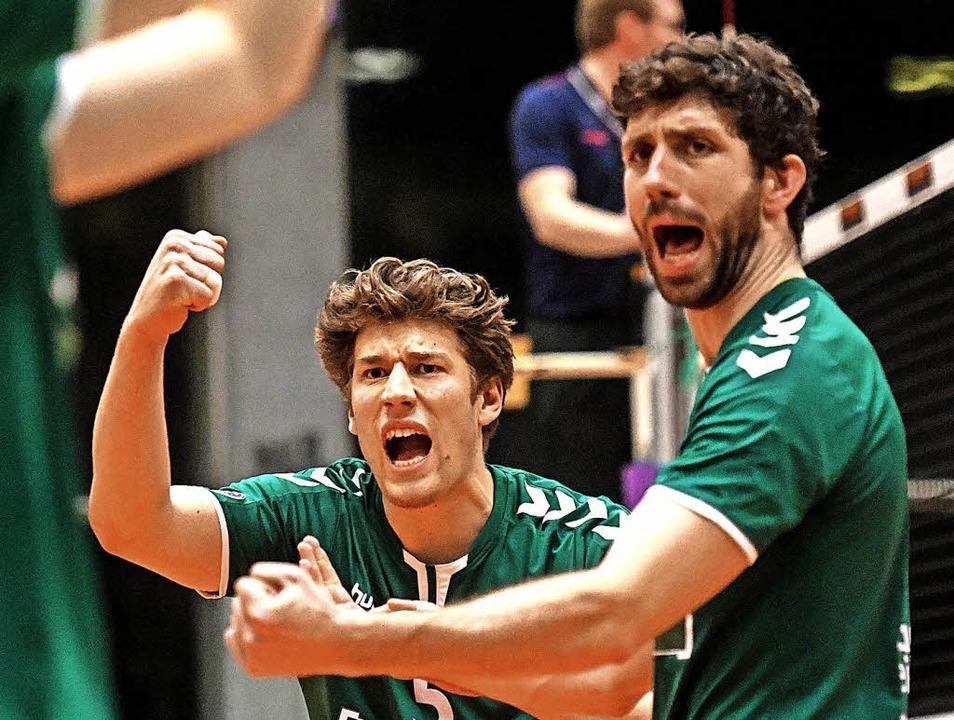 Ein perfektes Wochenende erwischten di... Paul Mauch (links) und August Sigle.     Foto: Patrick Seeger