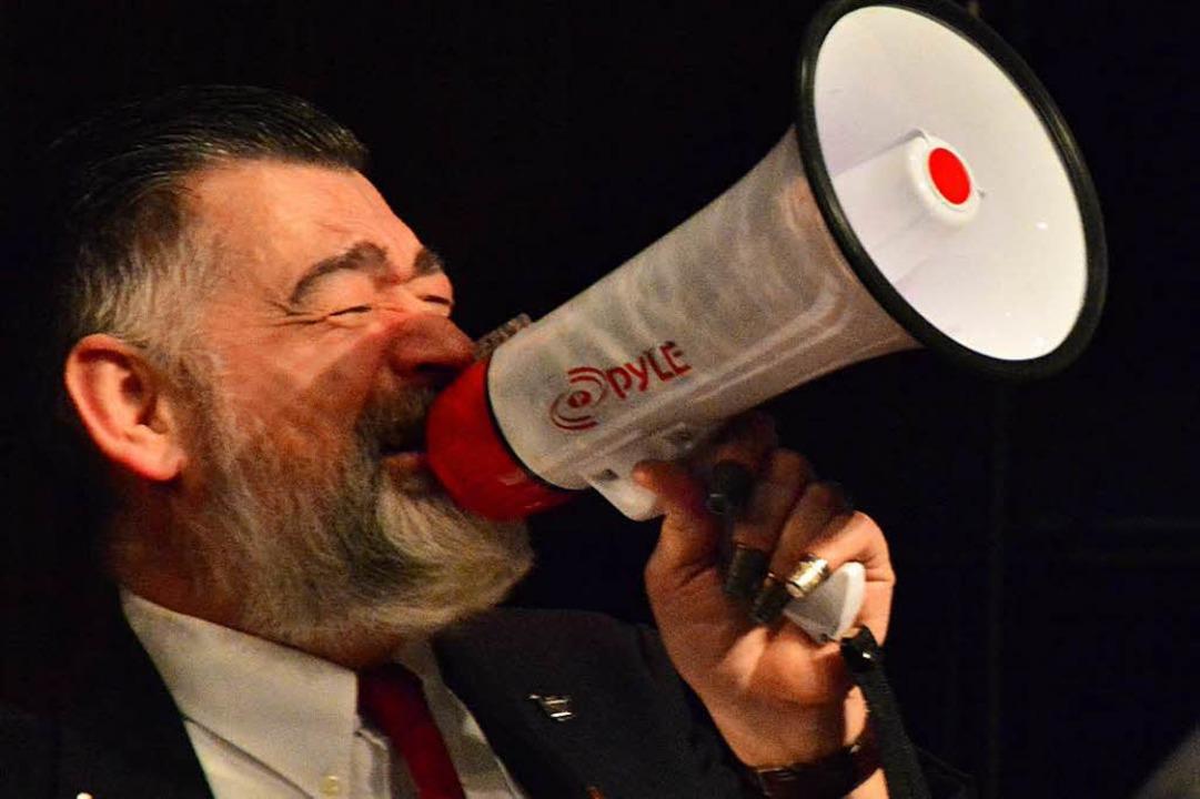 Attacke: Heiner Krause gibt bei den Sugar Foot Stompers den Ton an.  | Foto: Barbara Ruda